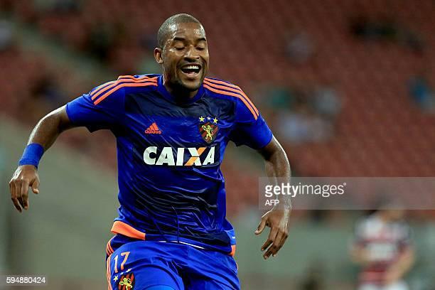 Brazil Sport Recife player Edmilson gestures during the Copa Sudamericana match against Brazil santa Cruz team at Arena Pernambuco stadium in Recife...