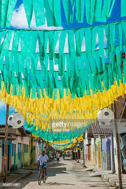 brazil street decoration - blue balls pics stock pictures, royalty-free photos & images