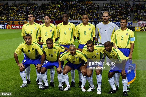 Brazil team group taken before the FIFA World Cup Finals 2002 SemiFinal match between Brazil and Turkey played at the Saitama Stadium in SaitamaKen...