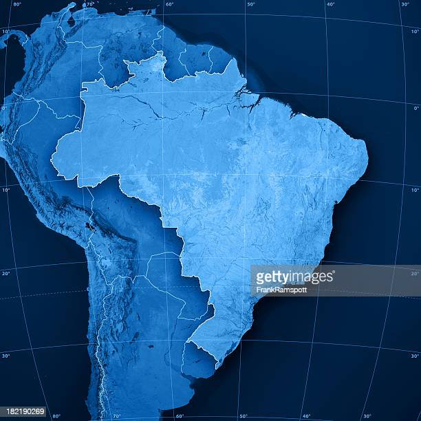 brazil topographic map - brazil stock pictures, royalty-free photos & images