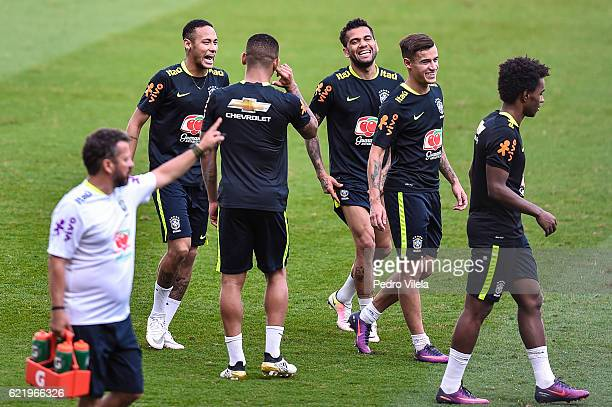 Brazil Training Session at Mineirao stadium on November 9 2016 in Belo Horizonte Brazil