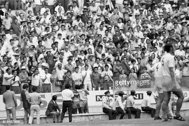 Brazil vs Czechoslovakia 1970 World Cup Group C Brazil won 41 Brazilians celebrate after scoring 3rd June 1970