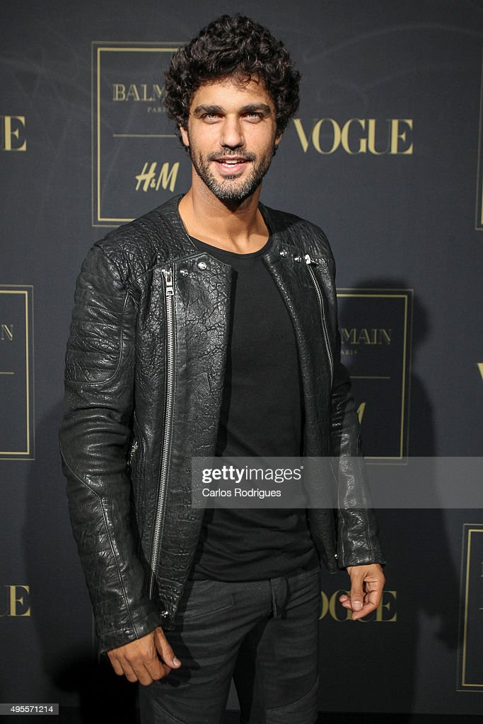 Brazilian Actor Bruno Cabrerizo during the Balmain Launch Event in Lisbon on November 3, 2015 in Lisbon, Portugal.