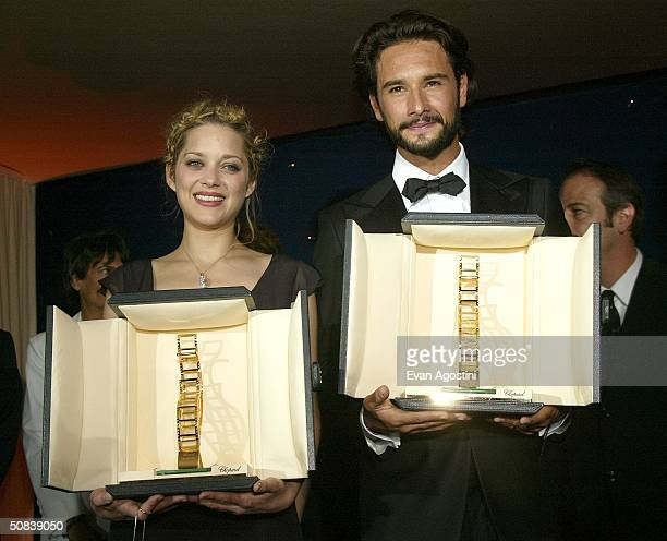 Brazilian actor Rodrigo Santoro and French actress Marion Cotillard are awared The Trophee Chopard at the fourth annual Chopard Trophy awards...