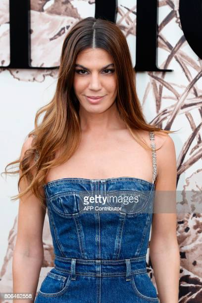 Brazilian actress Bianca Brandolini poses during the photocall before Christian Dior 2017 fall/winter Haute Couture collection show in Paris on July...