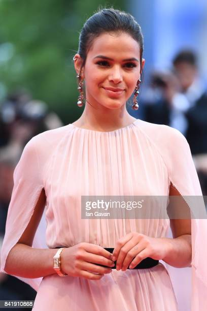 Brazilian Actress Bruna Marquezine wearing a JaegerLeCoultre JaegerLeCoultre Reverso One Duetto Jewelry watch attends the 'Suburbicon' premiere...