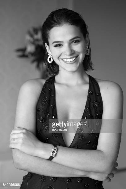 Brazilian Actress Bruna Marquezine wearing a JaegerLeCoultre Reverso One Duetto High Jewelry watch poses for a portrait during the 74th Venice Film...