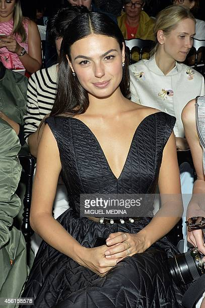 Brazilian actress Isis Valverde attends the Christian Dior 2015 Spring/Summer readytowear collection fashion show on September 26 2014 in Paris AFP...