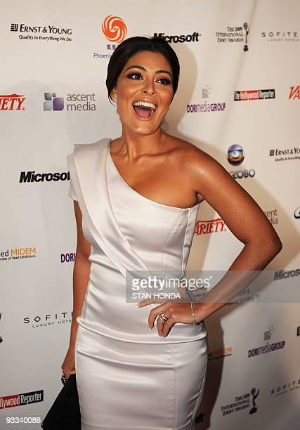 Brazilian actress Juliana Paes arrives at the 37th Annual International Emmy Awards November 23 2009 in New York AFP PHOTO/Stan Honda
