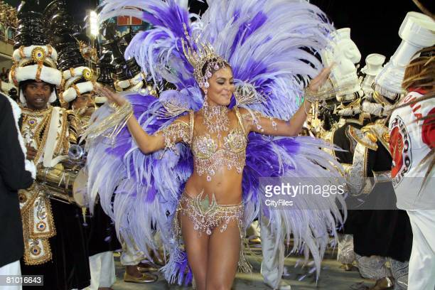 Brazilian actress Juliana Paes attends Rio carnival parade with Viradouro samba school
