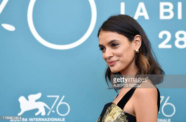 Brazilian actress Laysla De Oliveira poses during the photocall for the film Guest of Honour by Canadian director Atom Egoyan presented in...
