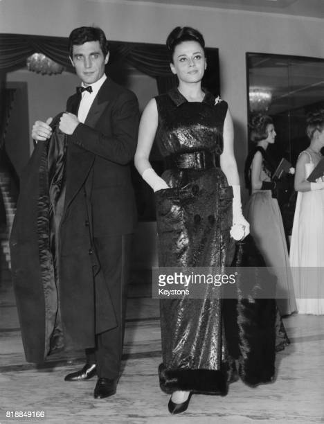 Brazilian actress Norma Bengell with actor Gabriele Tinti at a special performance of the opera 'Falstaff' at the opera house in Rome Italy 27th...