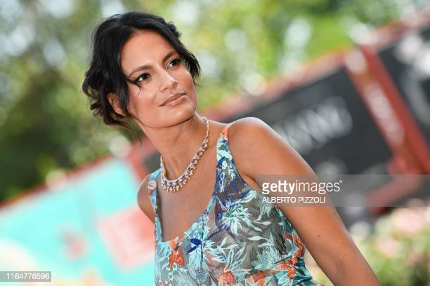 """Brazilian actress Shalana Santana arrives for the screening of the film """"Il Sindaco del Rione Sanita"""" presented in competition on August 30, 2019..."""