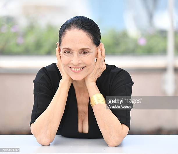 Brazilian actress Sonia Braga poses during the photocall for the film 'Aquarius' at the 69th annual Cannes Film Festival in Cannes on May 18 2016
