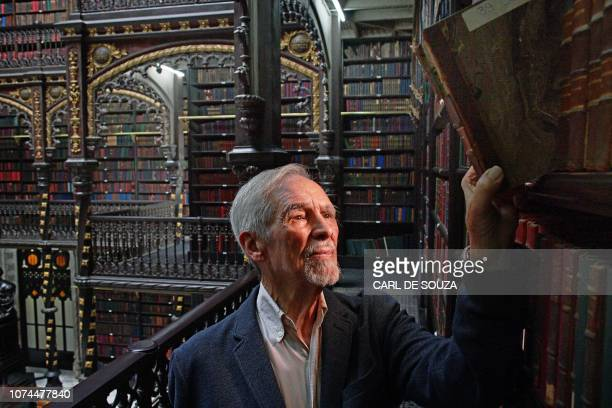 Brazilian Architect and researcher Carlos Francisico Moura is seen at the Royal Portuguese Cabinet of Reading in Rio de Janeiro Brazil on December 5...