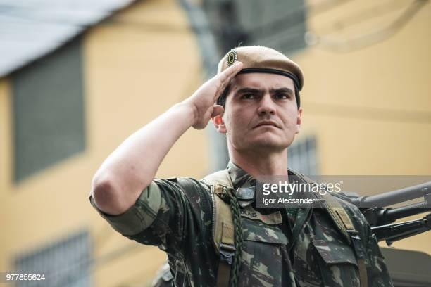Brasilianische Armee auf den Straßen, bürgerlichen parade