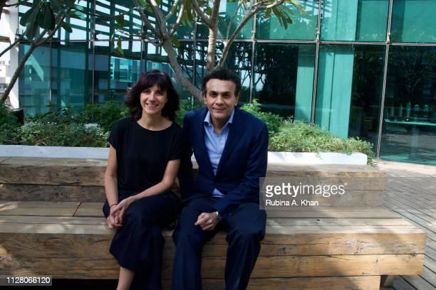 Brazilian artist Janaina Mello Landini and Sanjay Arora Managing Director D'Decor a $300 million company and the world's largest producer of soft...