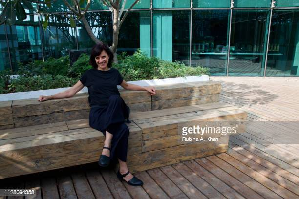 Brazilian artist Janaina Mello Landini at D'Decor a $300 million company and the world's largest producer of soft furnishings that crafted the linen...