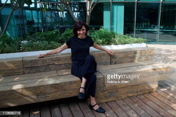 Brazilian artist Janaina Mello Landini at the D'Decor headquarters designed by Argentinian architect Ernesto Bedmar on February 07 2019 in Mumbai...
