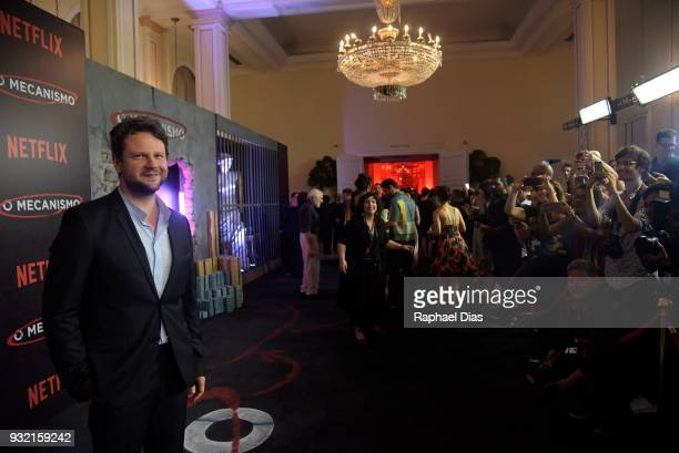 Brazilian ator Selton Mello during the red carpet for the new Netflix series O Mecanismo at Belmond Copacabana Palace Hotel on March 14 2018 in Rio...