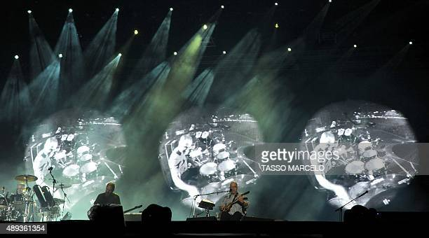 Brazilian band Paralamas do Sucesso performs during the third day of the Rock in Rio music festival at the City of Rock park in Rio de Janeiro,...