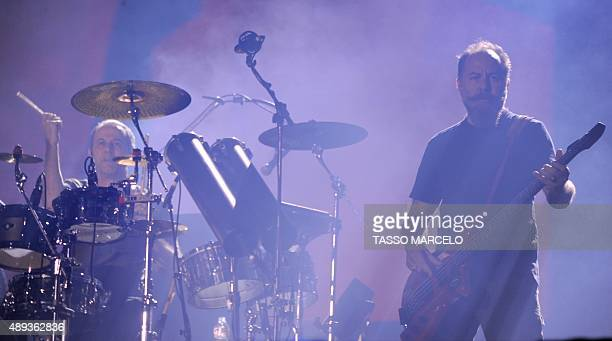 Brazilian band Paralamas do Sucesso performs during the third day of the Rock in Rio music festival at the City of Rock park in Rio de Janeiro Brazil...