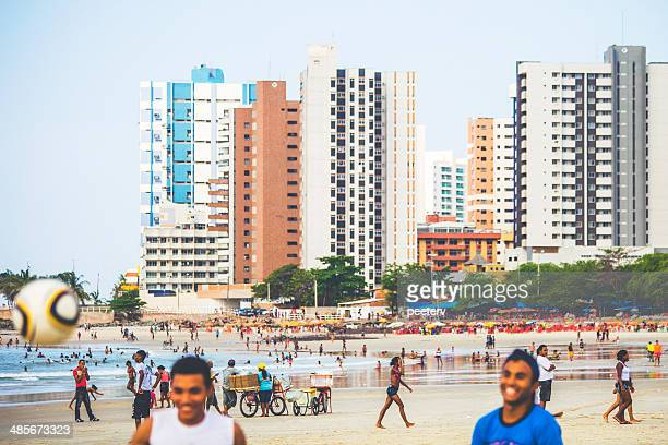 brazilian beach scene. - maranhao state stock pictures, royalty-free photos & images
