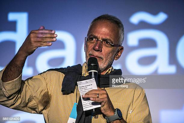 Brazilian billionaire Marcel Herrmann Telles cofounder of Fundacao Estudar speaks during an event for the nonprofit organization's 25th Anniversary...
