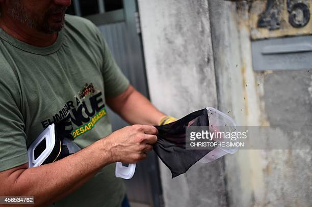 Brazilian biologist Roberto Costa Peres releases Aedes aegypti mosquitoes infected with the Wolbachia bacterium which reduces mosquito transmitted...