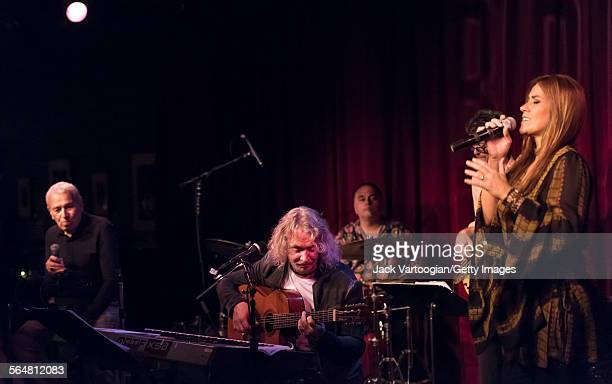 Brazilian Bossa Nova musician Marcos Valle leads his band during the BossaBrasil festival at the Birdland Jazz Club New York New York May 29 2015...
