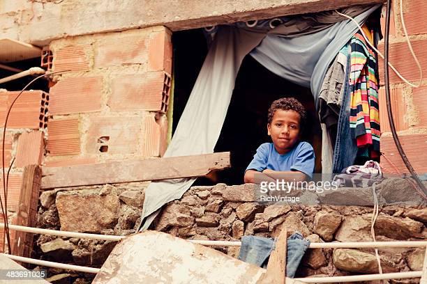 brazilian boy - slum stock pictures, royalty-free photos & images
