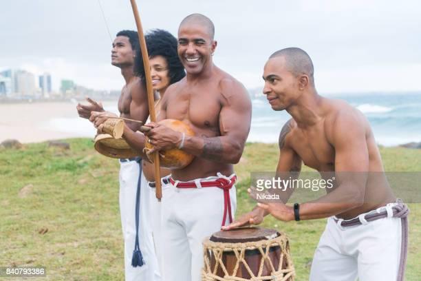 Brazilian Capoeira Musicians in Salvador, Brazil