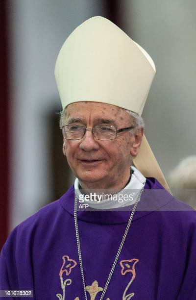 Brazilian Cardinal Claudio Hummes considered in the running to be the future pope attends Ash Wednesday mass at Se Cathedral in Sao Paulo Brazil on...
