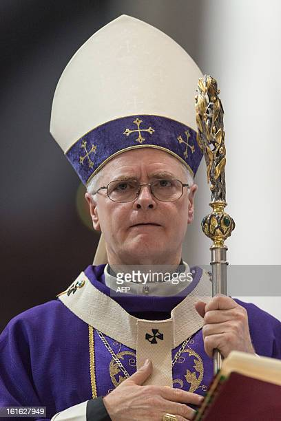 Brazilian Cardinal Odilo Pedro Scherer Archbishop of Se Cathedral and considered in the running to be the future pope celebrates Ash Wednesday mass...