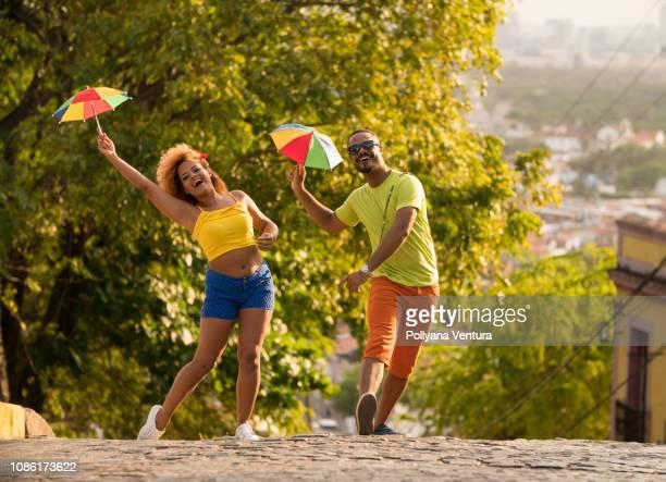 brazilian carnival - frevo imagens e fotografias de stock