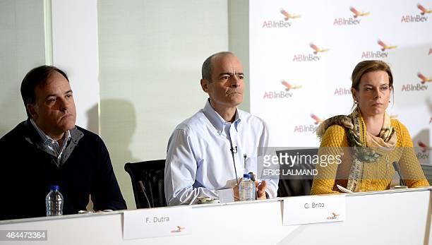 Brazilian CFO of multinational beverage and brewing company AnheuserBusch InBev Felipe Dutra Brazilian CEO Carlos Brito and Communication Director...