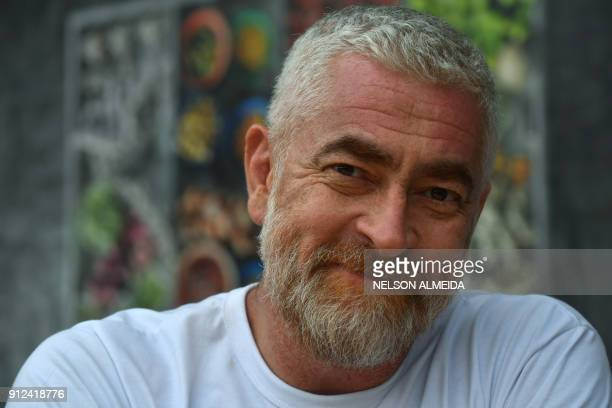 Brazilian chef Alex Atala poses for pictures during an interview with AFP in Sao Paulo Brazil on January 26 2018 Latin America certainly has deep...