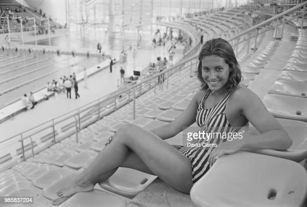Brazilian competitive swimmer Lucy Burle pictured at a swimming pool on 23rd August 1972 prior to competing for the Brazil team at the 1972 Summer...