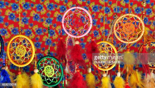 brazilian crafts - dream filter - claudio capucho stock photos and pictures