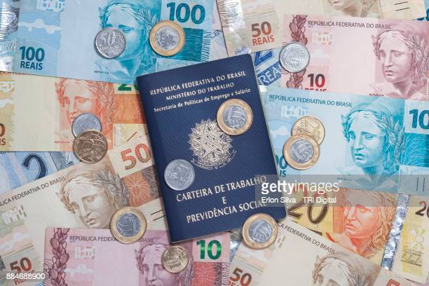 Brazilian Currency Real and worker's book