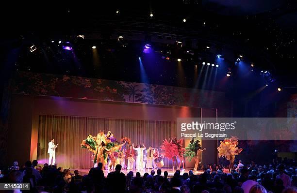 Brazilian dancers perform at the Rose Ball 2005 at the Grimaldi Forum on March 19 2005 in Monte Carlo Monaco