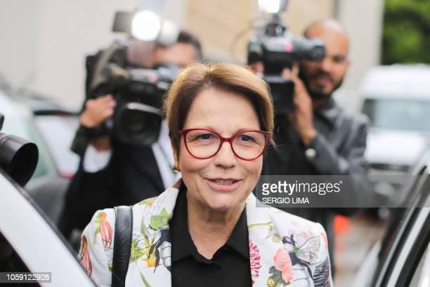 Brazilian Deputy Tereza Cristina Correa da Costa Dias who was appointed to the Ministry of Agriculture by Brazilian presidentelect Jair Bolsonao...