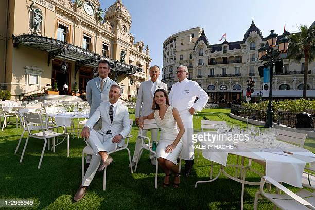 Brazilian designers Fernando Campana and Humberto Campana executive chairman of MonteCarlo SBM JeanLuc Biamonti French actress Carole Bouquet and...