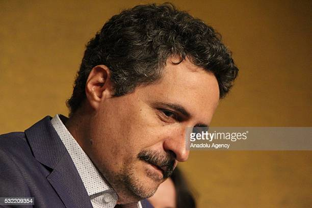 Brazilian director Kleber Mendonca Filho attends a press conference for 'Aquarius' during the 69th annual Cannes Film Festival in Cannes France 18...