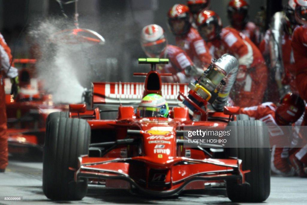 Brazilian driver Felipe Massa of Ferrari : News Photo