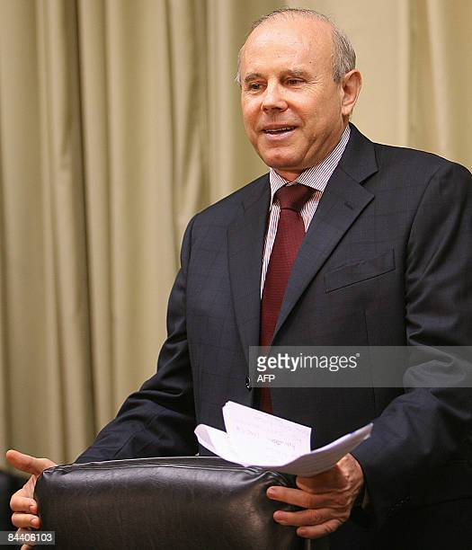 Brazilian Economy Minister Guido Mantega offers a press conference in Brasilia on January 22 2009 announcing that Brazil is to inject 425 billion...