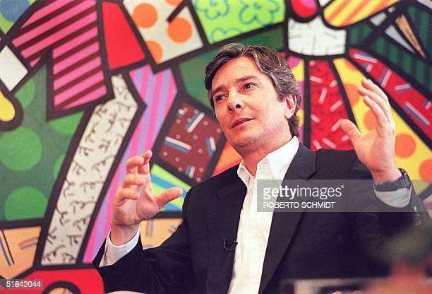 Brazilian expresident Fernando Collor de Mello speaks during an interview with Agence FrancePresse in Miami 07 January two days after a federal judge...