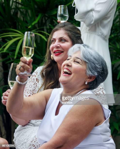 Brazilian family celebrating New Year