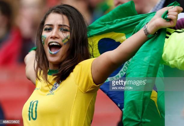 Brazil Football Fan Girl