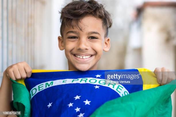 fã brasileiro - patriotismo - fotografias e filmes do acervo